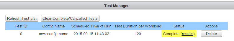 18 IO Analyzer - Test Scheduler - Finished