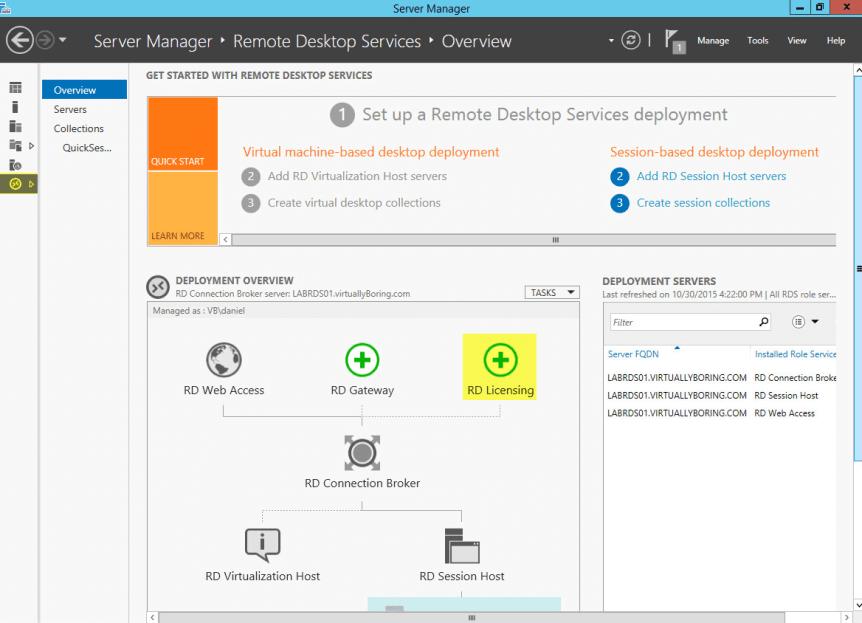 11 Remote Desktop Service - RD Licensing