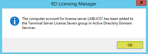 25 License Server - AD Group Confirmation