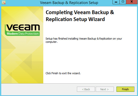 Veeam Backup 10 - Installation Complete