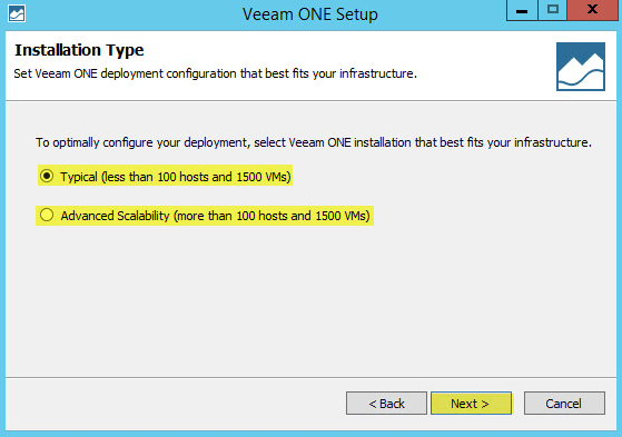 Veeam ONE 13 - Installation Type