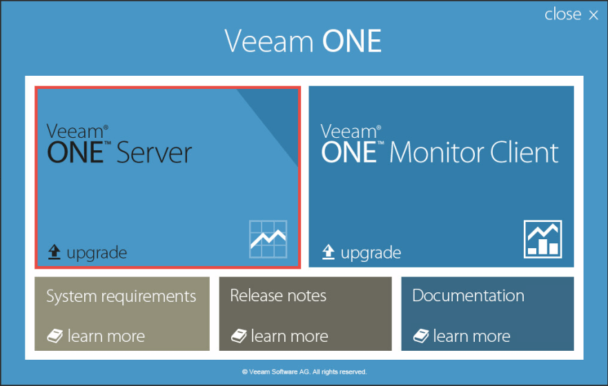 Veeam ONE 2 - Installer