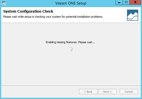 Veeam ONE 7-1 - System Configuration Check Running