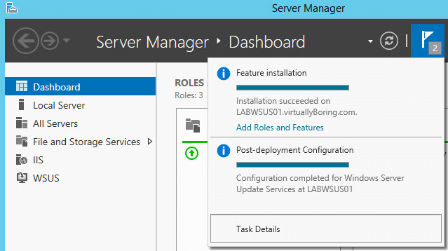 WSUS Install 13-2 - Confiuration Complete