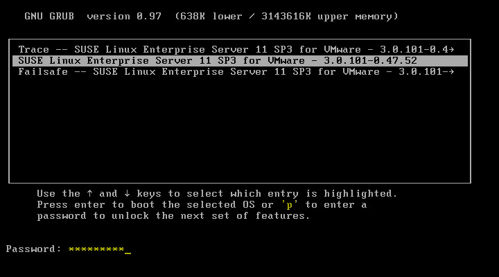 VCSA Boot Error 3 - GRUB boot loader