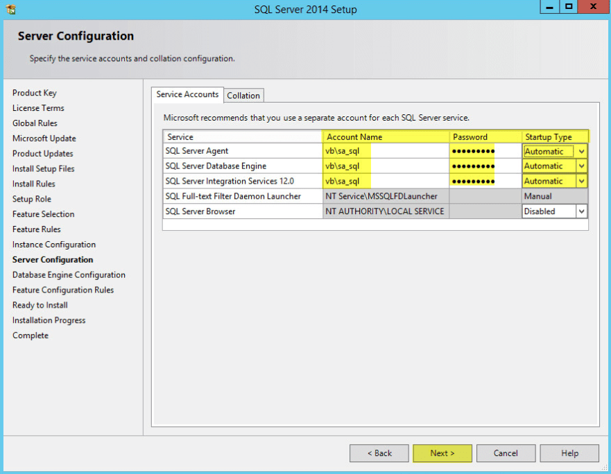 Microsoft SQL 2014 9 - Server Configuration