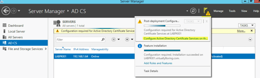 PKI 11 - AD CS Configuration Required