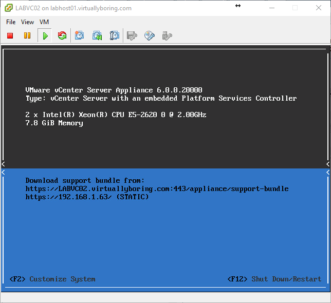 Updating vCenter Server Appliance 6 0 to Update 2