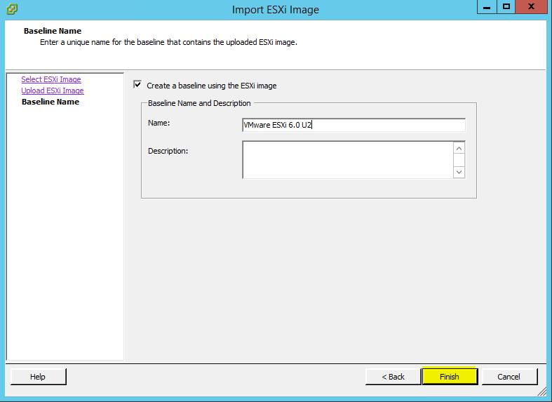 VUM ESXi Update 4 - Baseline Name
