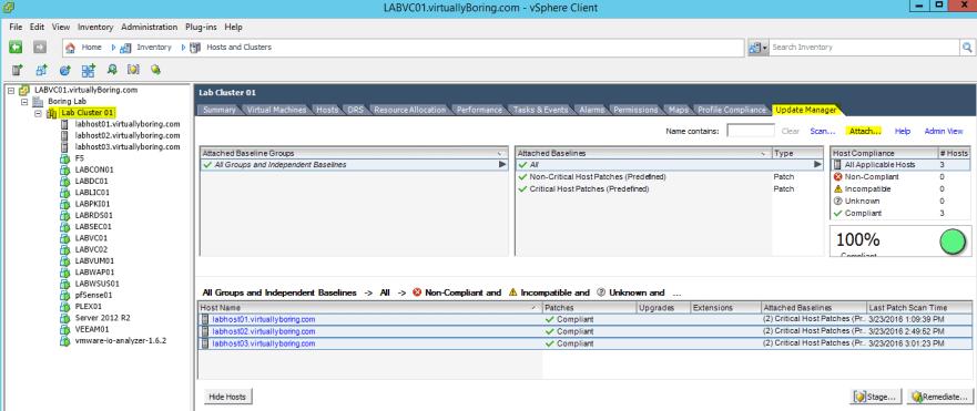 VUM ESXi Update 6 - Attach ESXi Upgrade Baseline