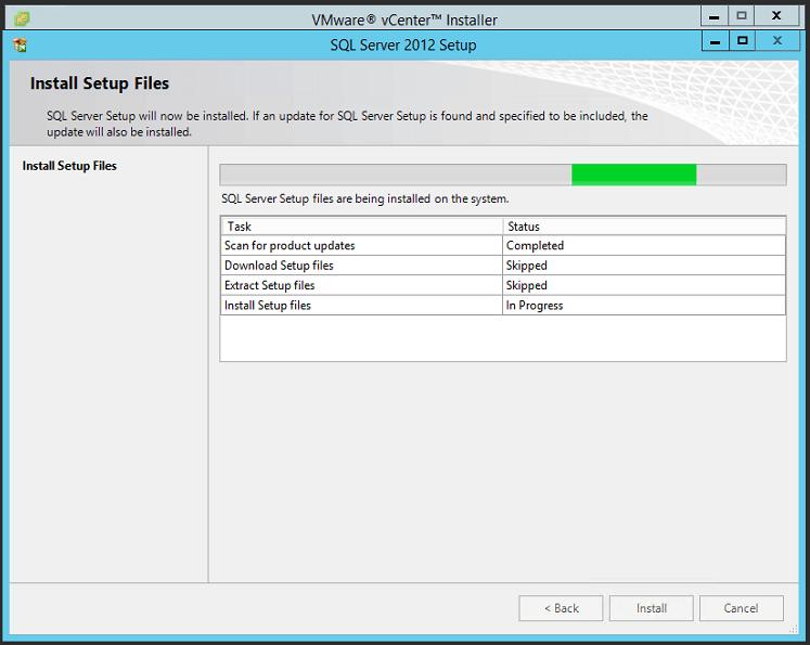 VUM Install 2 - Installing SQL Express