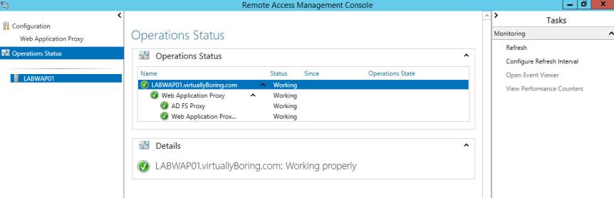 WAP Configuration 17 - Operations Status