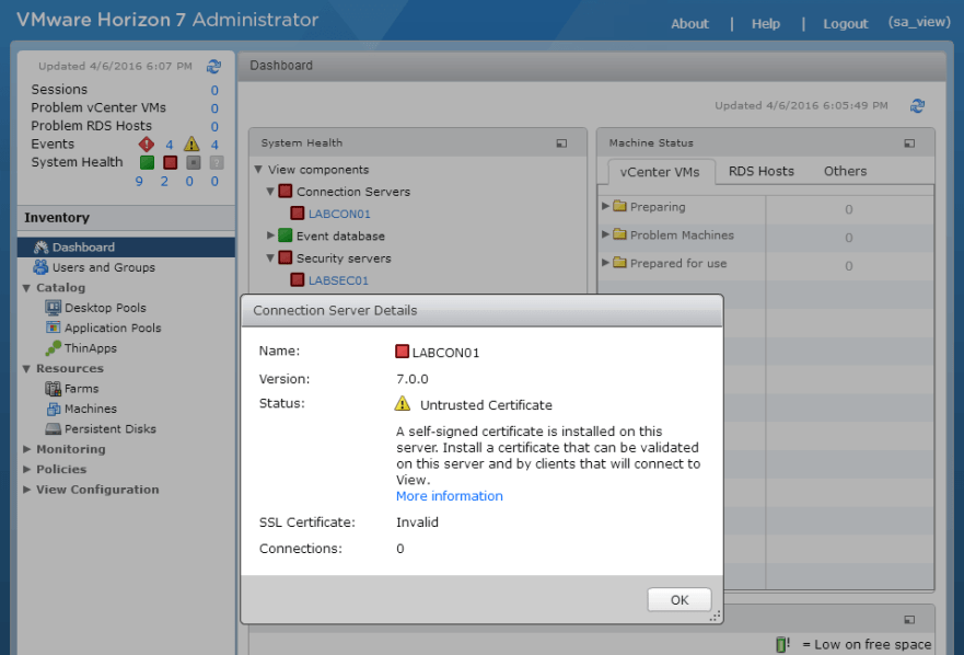 Add SSL Cert fo View - 1 Untrusted Certificated