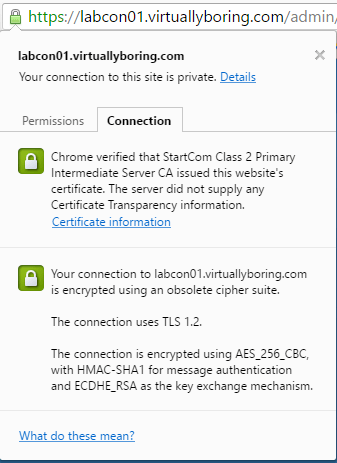 Add SSL Cert fo View - 10 Certificate is now Green