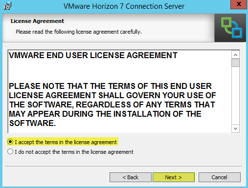Horizon View 3 - License Agreement