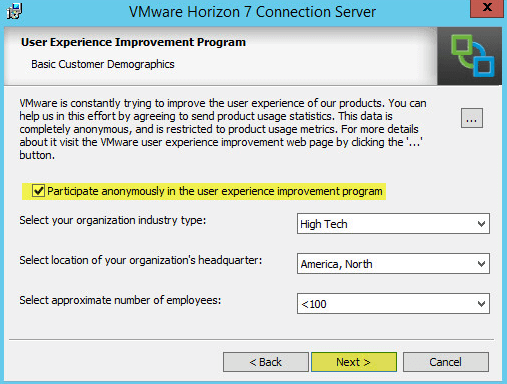 Horizon View 9 - User Experience Program