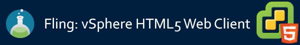 vSphere HTML5 Web Client Fling Banner