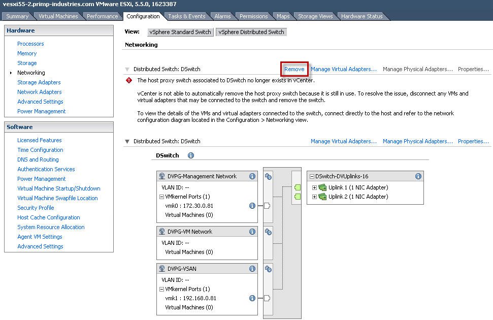 How to move a VSAN Cluster from one vCenter Server to another?
