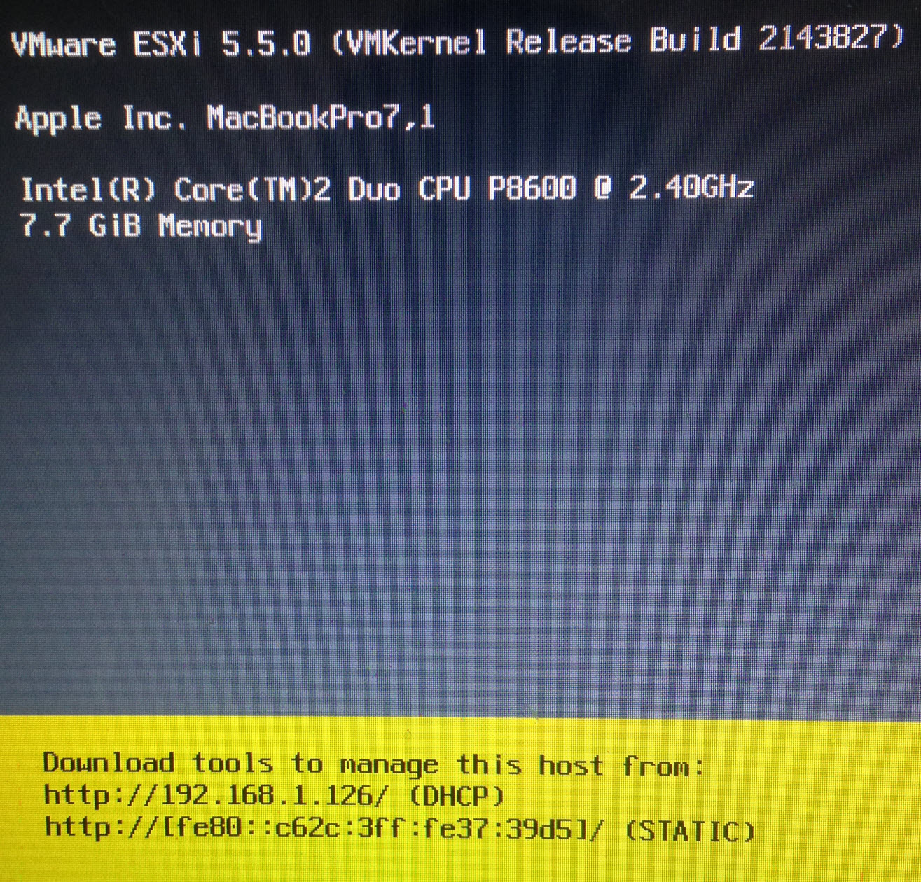 Want to run ESXi on an Apple MacBook Pro, MacBook Air & iMac