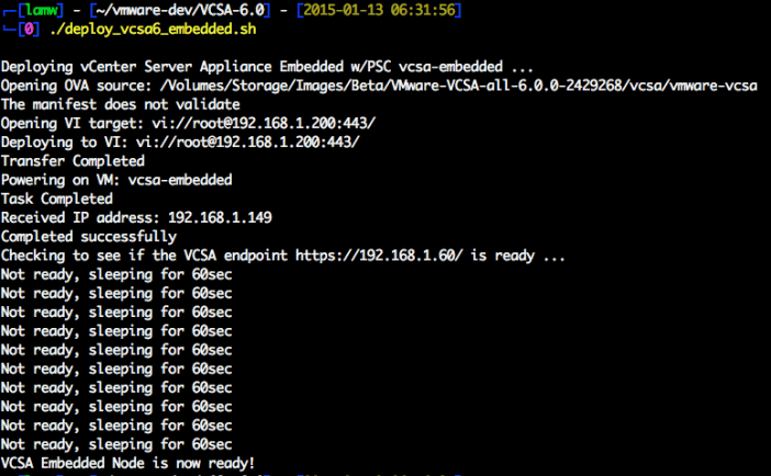 vcsa-6.0-embedded-deployment