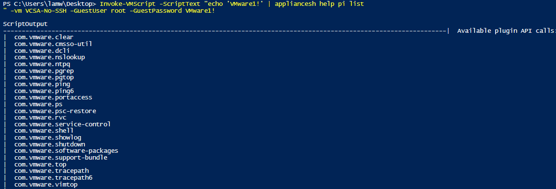 How to remotely run appliancesh & other shell commands on