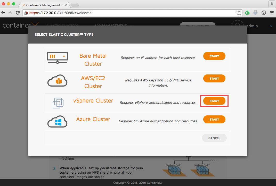 Test driving ContainerX on VMware vSphere
