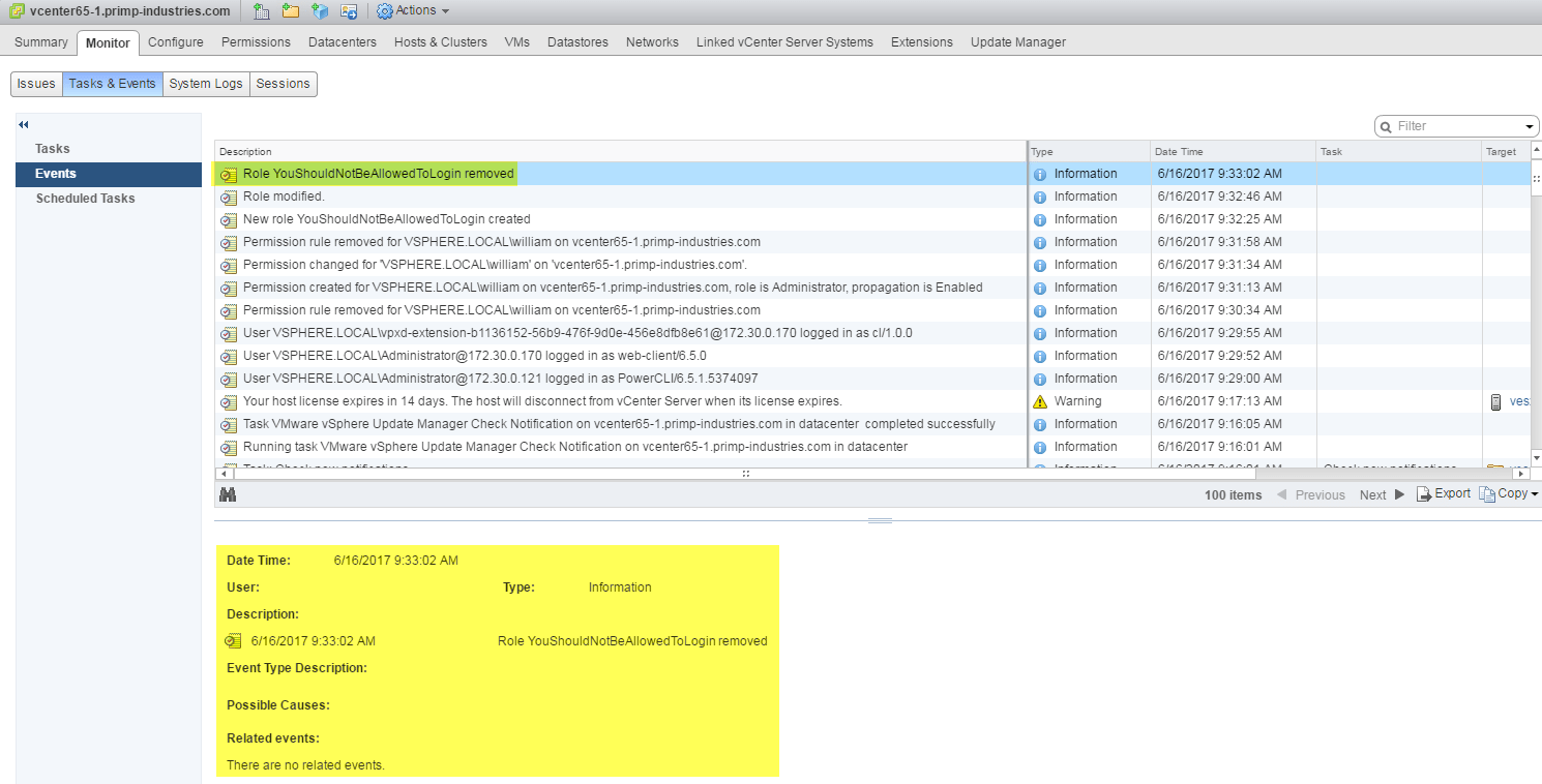 Auditing/Logging vCenter Server authentication