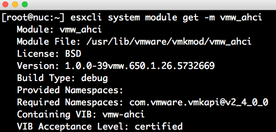 AHCI (vmw_ahci) performance issue resolved in ESXi 6 5 Update 1
