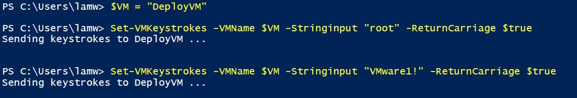 Automating VM keystrokes using the vSphere API & PowerCLI
