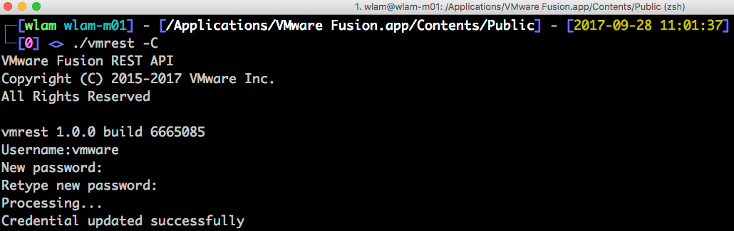 How to enable remote REST API access for VMware Fusion 10