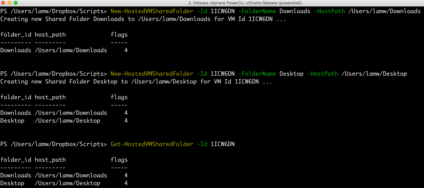 vmware fusion linux shared folder