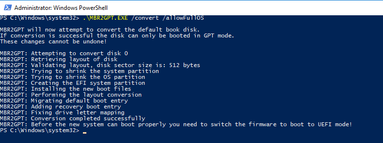 Tip from Engineering – Use UEFI firmware for Windows 10 & Server 2016