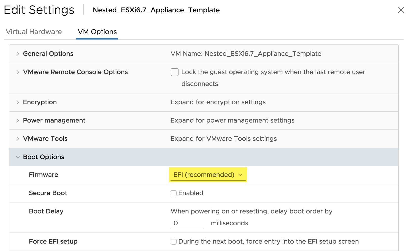 Nested ESXi 6 7 Virtual Appliance Updates