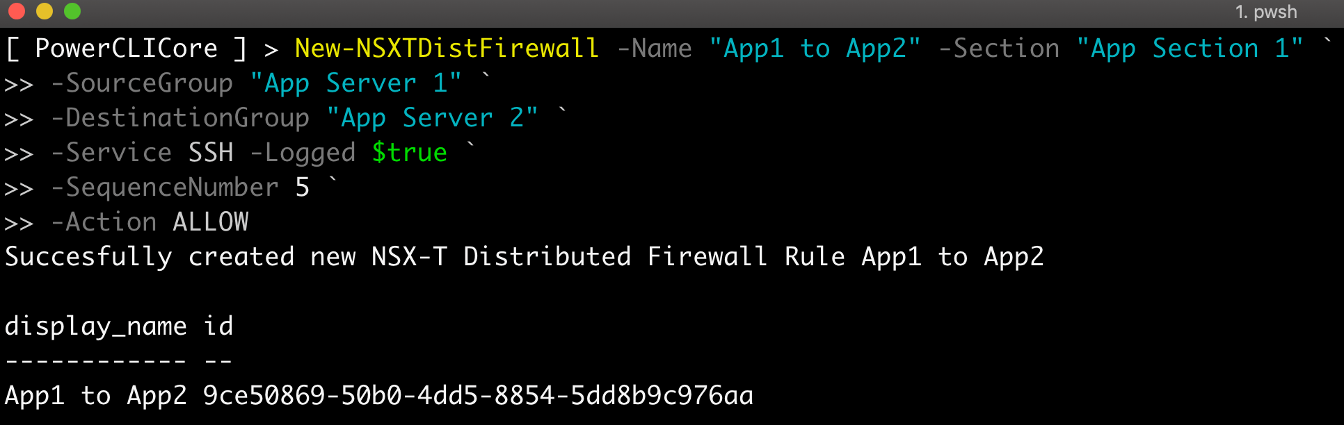 Managing Distributed Firewall Rules in VMC using PowerShell