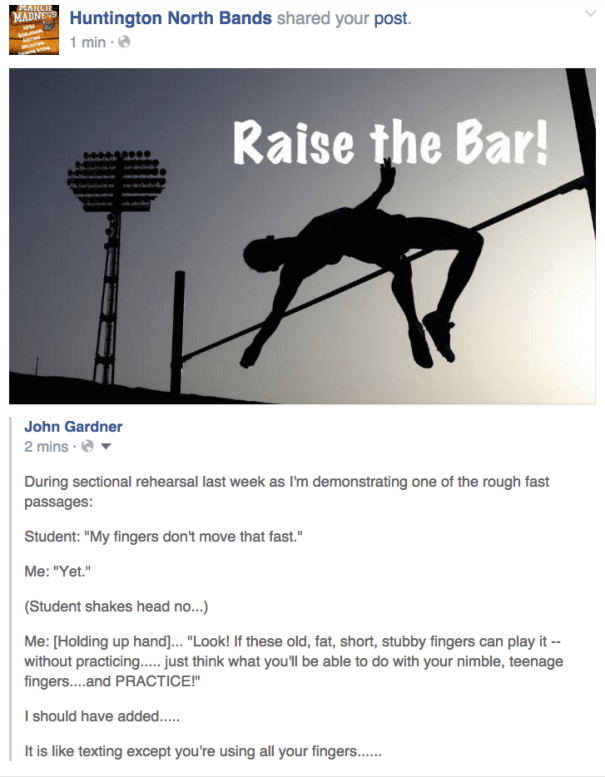 Raise the Bar with Practice