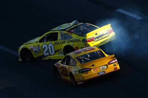 One of the instances where Joey Logano or his teammate have wrecked Matt Kenseth. At Kansas they crashed him out of 1st place and out of championship contention.