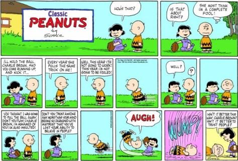 Lucy: the GOP Establishment. Charlie Brown: Republican voters.