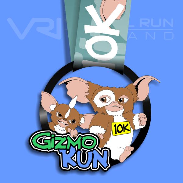 Gizmo 10K Virtual Run, virtual gizmo medals, virtual, gizmo, run, medal, challenge. virtual run Ireland medal, virtual run ireland, virtual running ireland, virtual medal, virtual run