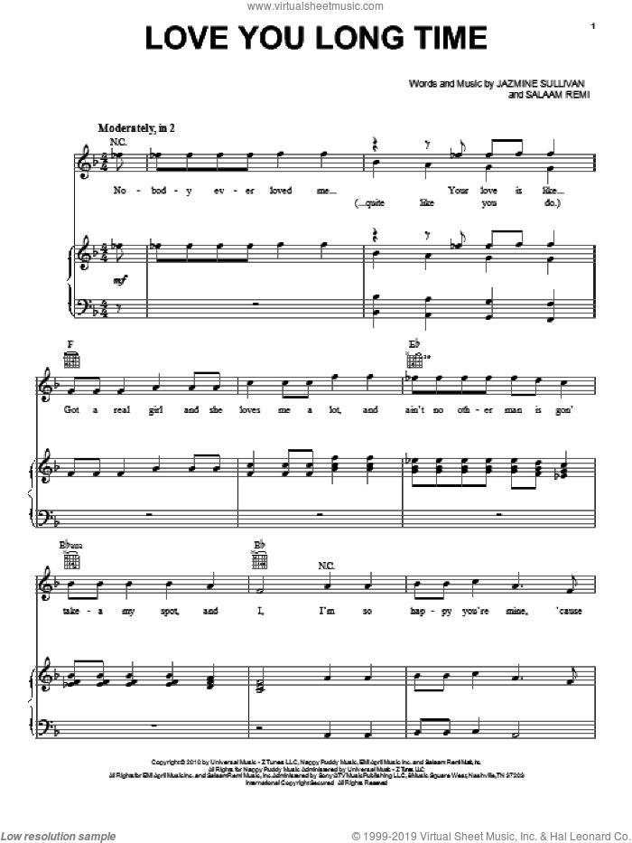 Pentatonix Love You Long Time Sheet Music For Voice