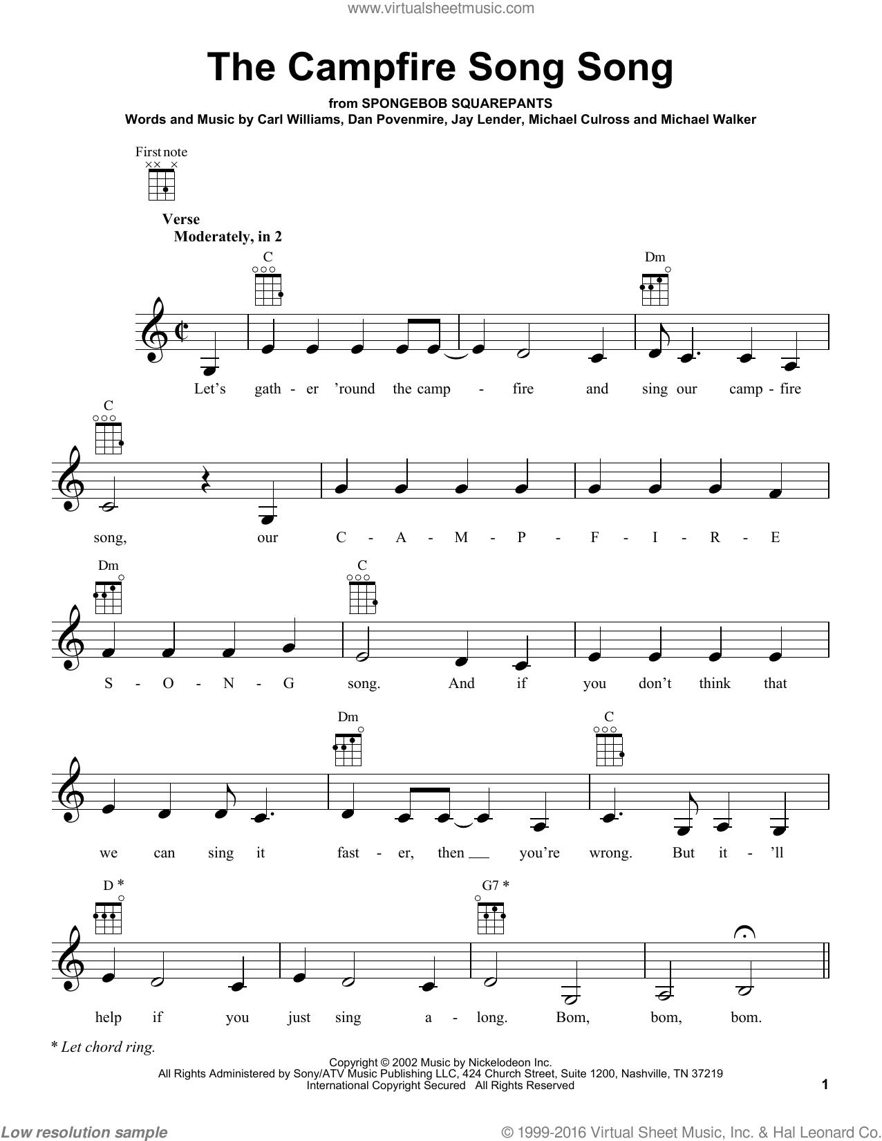 Campfire Song Lyrics Spongebob