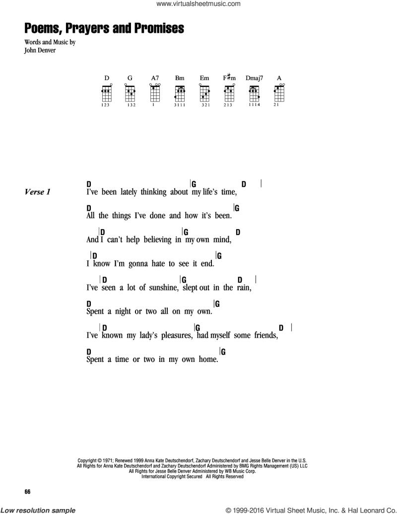 Poems Prayers And Promises Chords Creativepoem
