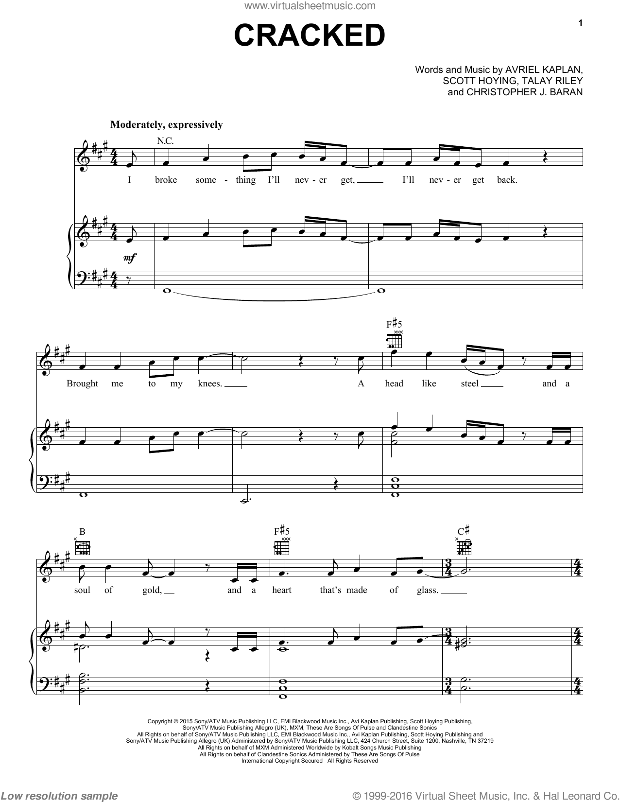Pentatonix Cracked Sheet Music For Voice Piano Or Guitar
