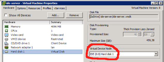 Convert a virtual disk from IDE to SCSI - Virtual to the Core