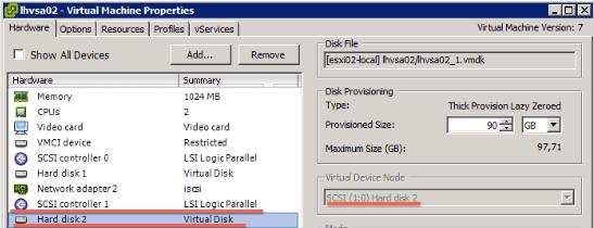 StoreVirtual VSA add disk