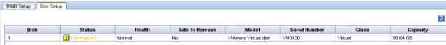 StoreVirtual VSA local disk