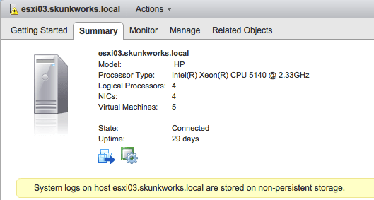 ESXi with no local storage for logs