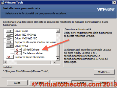 Custom Install of VMware Tools