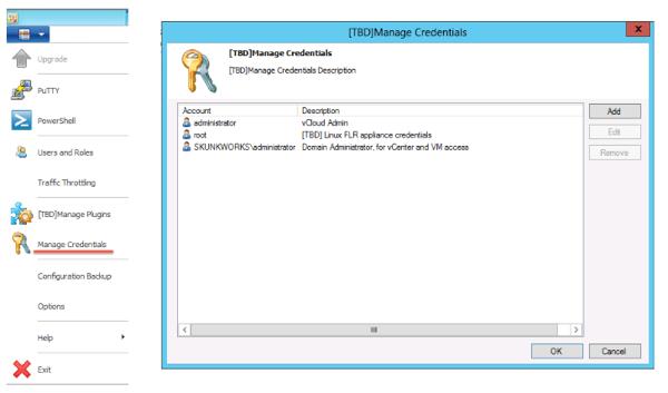 Veeam 7 manage credentials