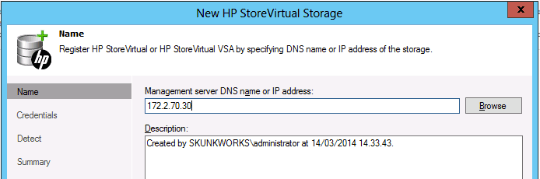 Set StoreVirtual Virtual IP