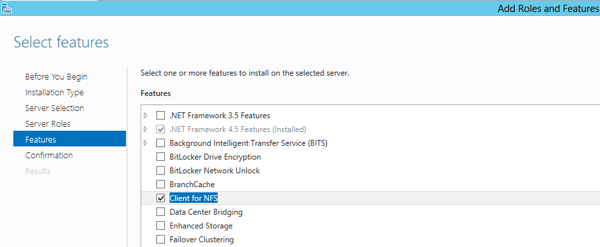Install Client for NFS